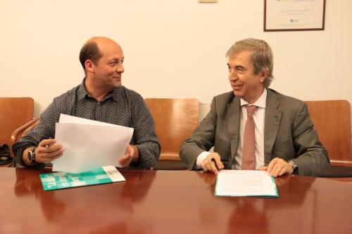 Firmado el convenio entre la Fundación Galatea y el CFC, que hace posible el Programa AFÍ (de ayuda al fisioterapeuta)