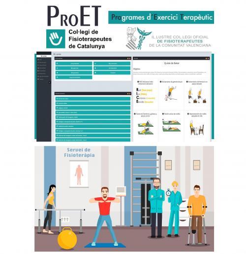 Nueva plataforma de programas de ejercicio terapéutico (ProET), gratuita a través de la intranet del Col·legi