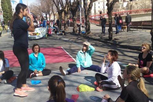El CFC participa a la VI Jornada de l'Esport Femení de Girona amb un taller sobre estiraments i respiració