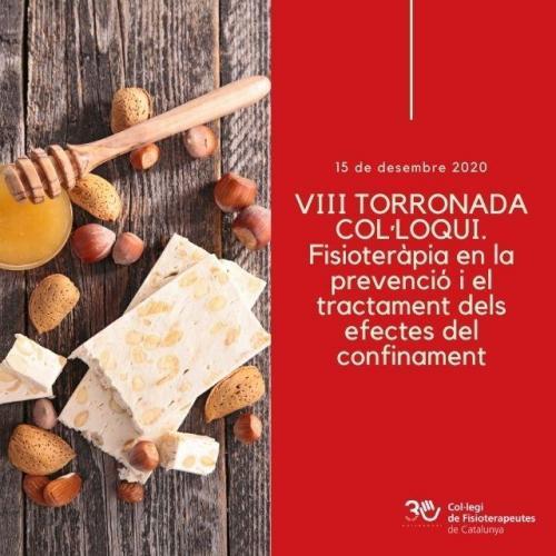 Fisioteràpia en la prevenció i el tractament dels efectes del confinament en la 8a edició de la Torronada-Col·loqui de la Secció de Lleida